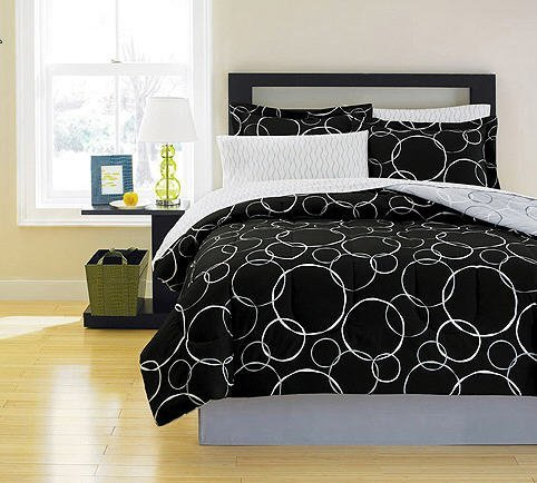black and white polka dots comforter