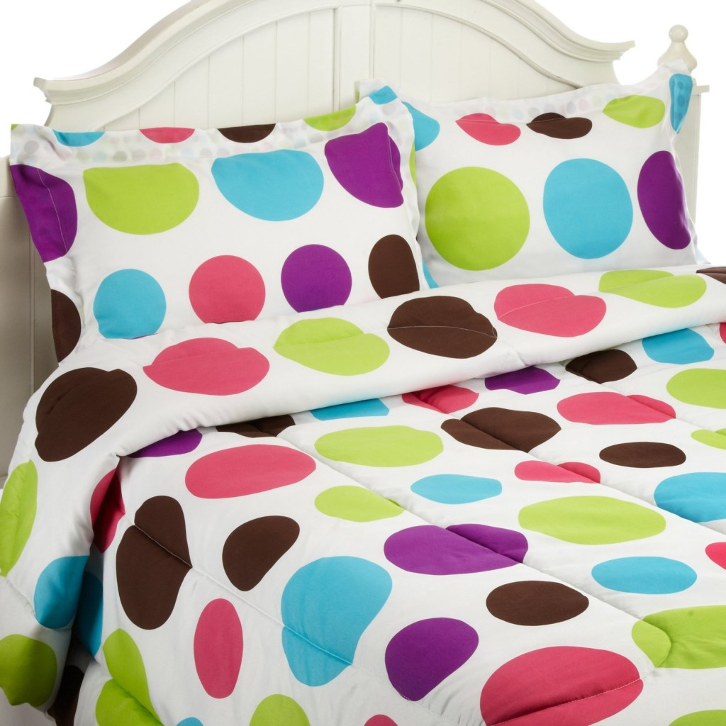 colorful polka dots comforter