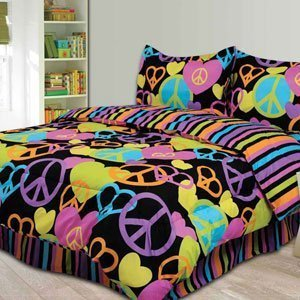 Cute Peace Sign Comforter Set