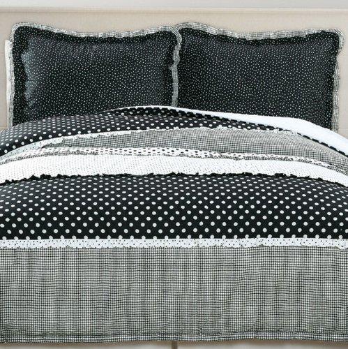 Black and White Polka Dot Comforter