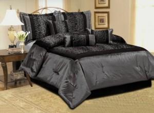 Grey Leopard Comforter Set