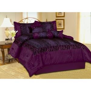 Purple Leopard Comforter Set