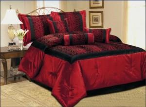 Red Leopard Comforter