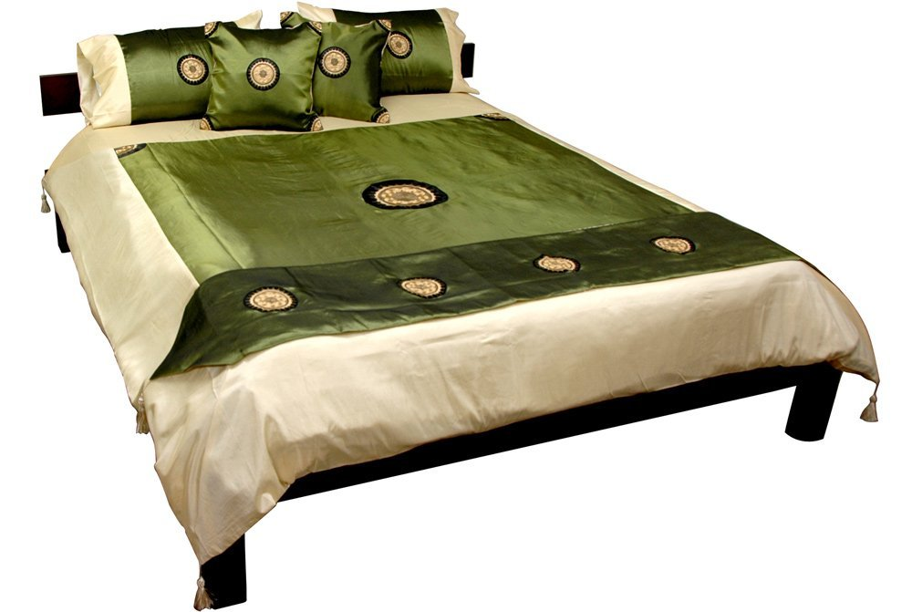 jade green silk comforter