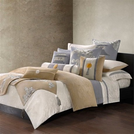 Natori Lotus Temple Duvet Cover