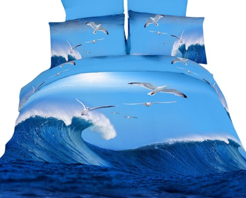 California Surf 4-Piece Twin Duvet Cover Set