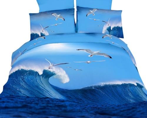 California Surf 4-Piece Twin Duvet Cover Set