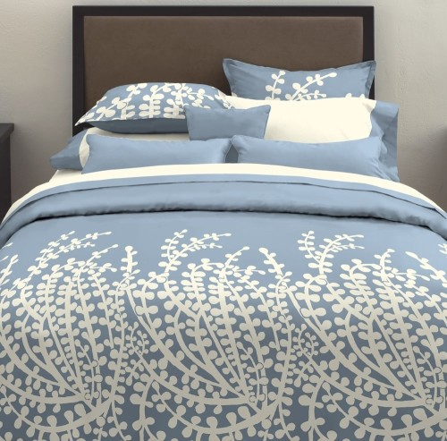 City Scene Branches Blue Comforter Set