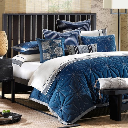 indigo blue Mini Comforter Set