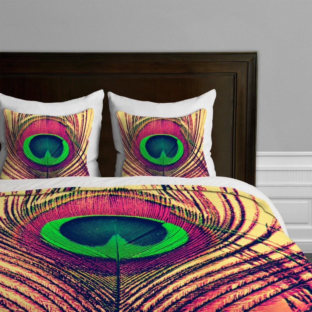 stylish peacock bedding
