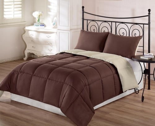 chocolate brown comforter set for cheap