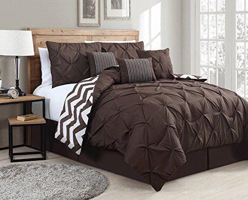 Chocolate King Bed Skirt