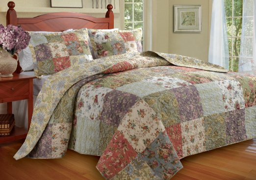 cute floral bedspread set