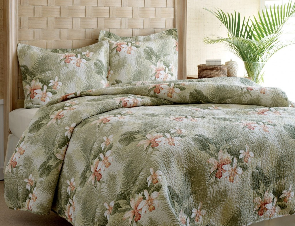Tommy Bahama Tropical Orchid Quilt Set