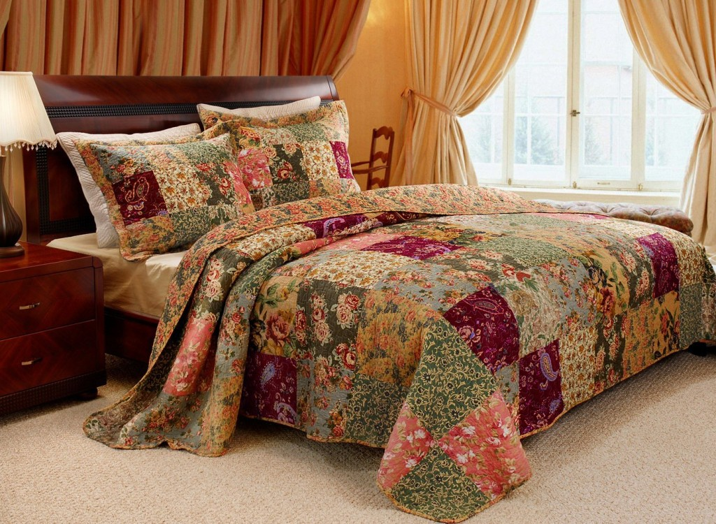 beautiful floral bedspread set