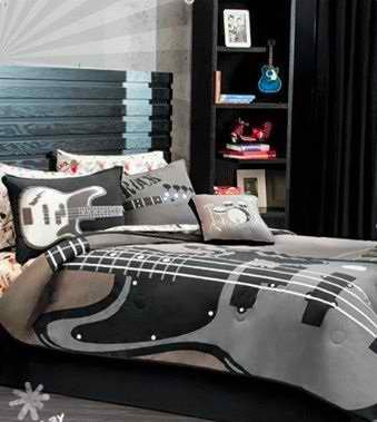 guitar print comforter set