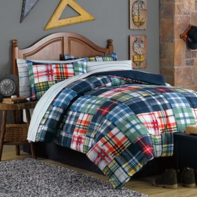 Teen Boys Plaid Comforter Set