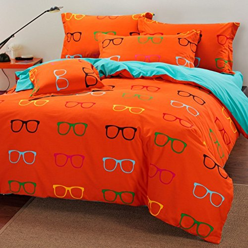 fun orange bedding
