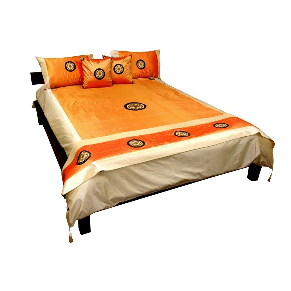 oriental style orange bedding