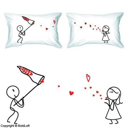 Catch My Love Fun and Romantic Pillowcases