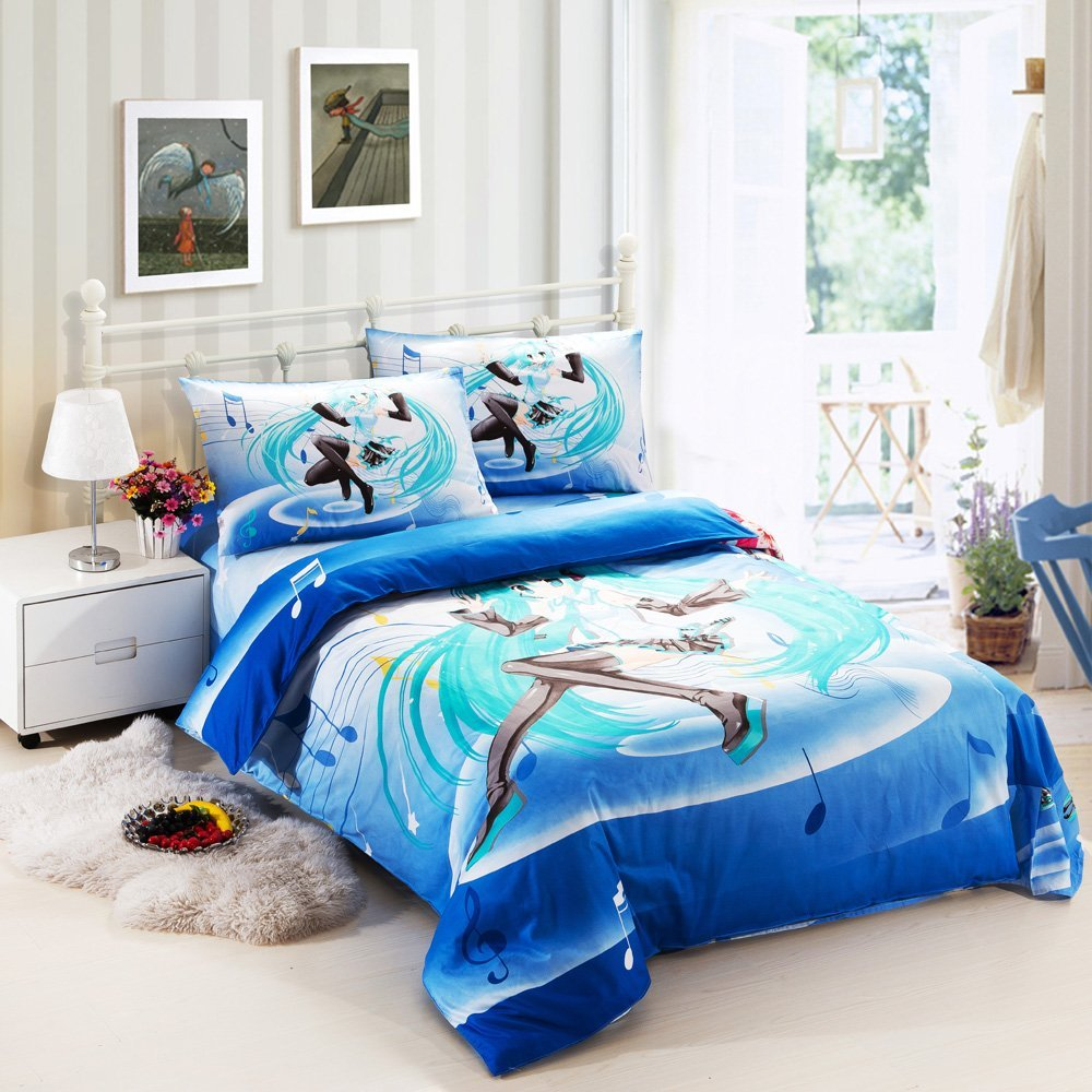 Design Comforters For Teens best anime bedding sets for teens unique cartoon hatsune miku 3 piece set teens