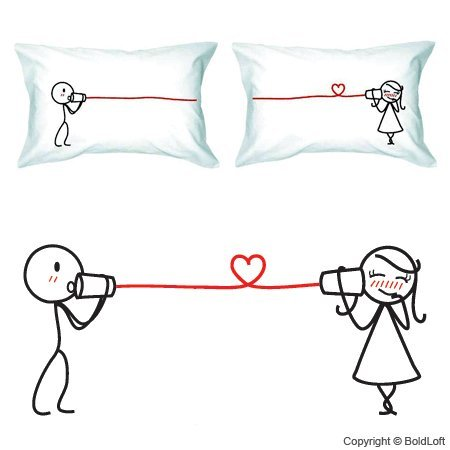 Cute, Fun and Romantic Couple Pillowcases