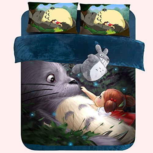 My Neighbor Totoro Velvet Bedding Set