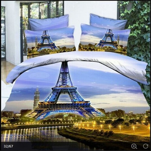 3d Oil Painting Eiffel Tower Paris Bedding