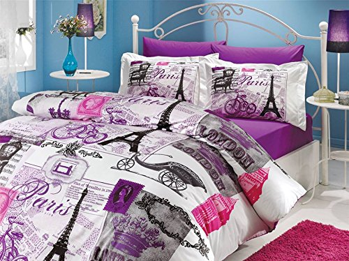 Cute Paris Eiffel Tower Vintage Theme Bedding