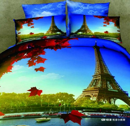 3d Eiffel Tower Bedding Set