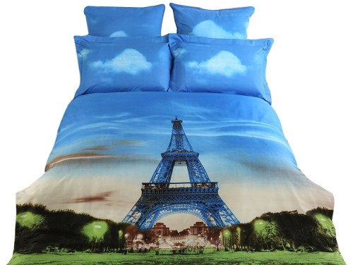 Eiffel Tower King Duvet Cover Set