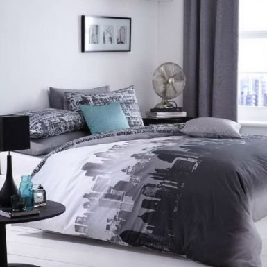 NYC Skyline King Size Duvet Cover Set