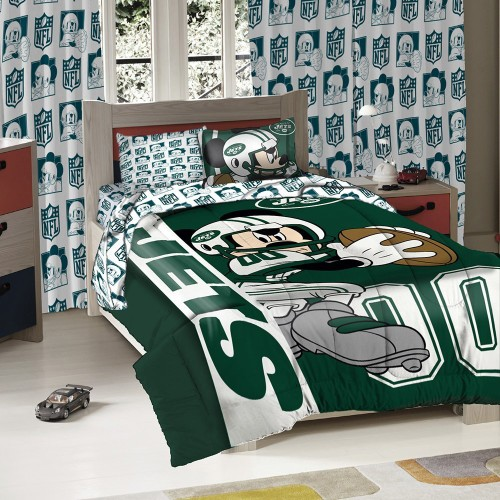 NEW YORK JETS Mickey Mouse Comforter Set for Boys