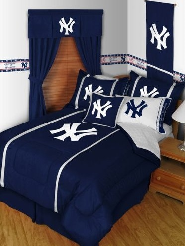 NY Yankees 5 Piece Bedding Set for Teen Boys