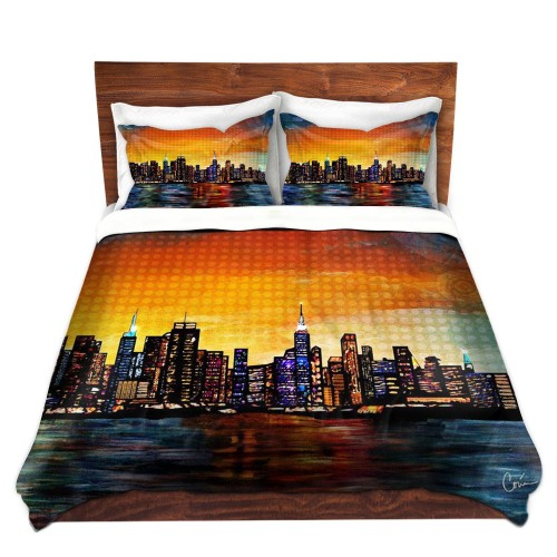 New York Skyline Artistic Duvet Cover