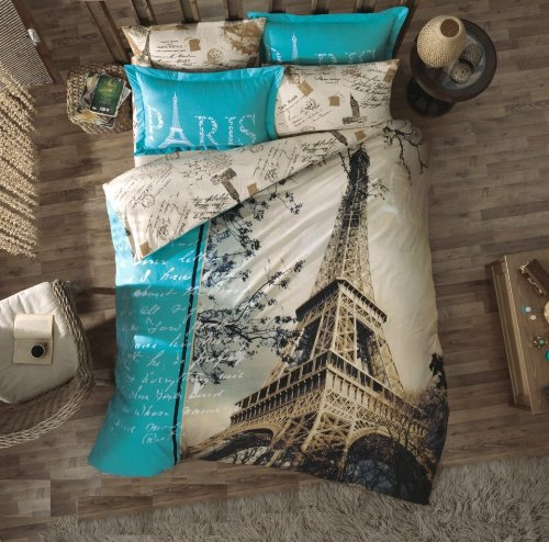 beautiful Paris themed bedding sets