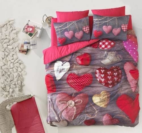 Very Unique 3D Hearts Bedding Set