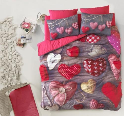 Very Unique 3D Hearts Bedding Set