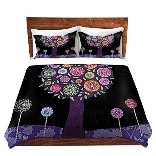 Purple Tree Design Duvet Cover