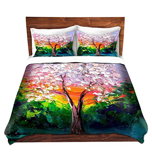 Colorful Tree Painting Duvet Cover
