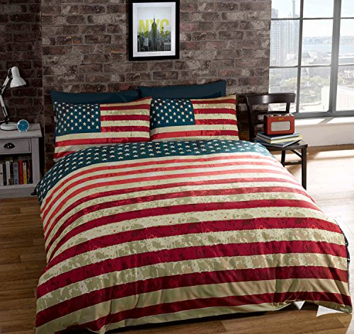 American Flag Reversible Duvet Cover