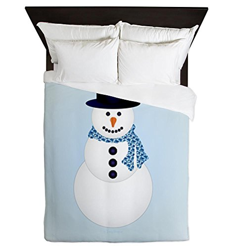 Adorable Snowman Queen Size Duvet Cover