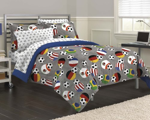 Cool SOCCER Theme Comforter Set for Boys