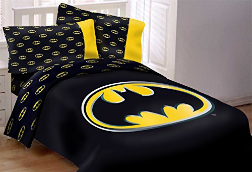 Batman Emblem 3 Piece Reversible Super Soft Luxury Queen Size Comforter Set