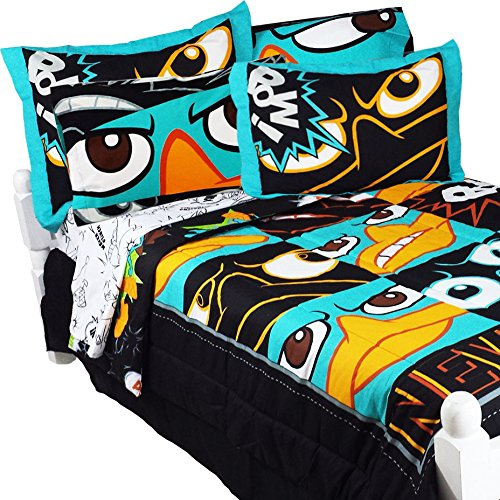 Awesome 8pc Phineas and Ferb - Perry the Platypus Full Bedding Set