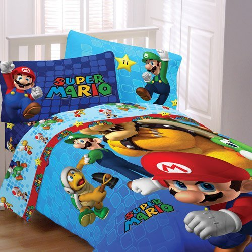 Cute Super Mario Comforter Set