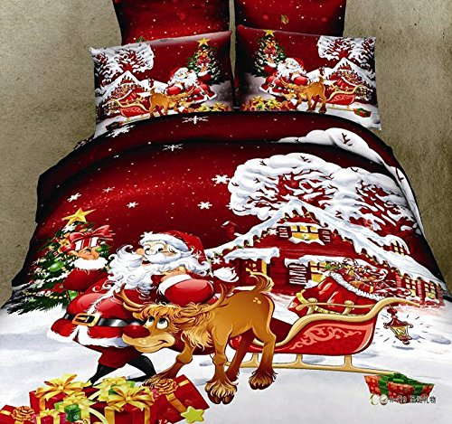 Beautiful Santa Claus Bedding Set