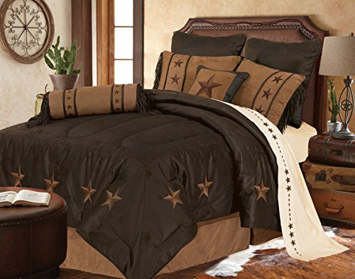 Chocolate Color Stars Bedding Set