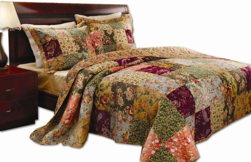 Charming Antique Chic Country Quilt Set