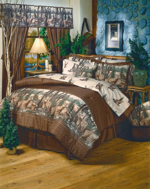 deer print country bedding set